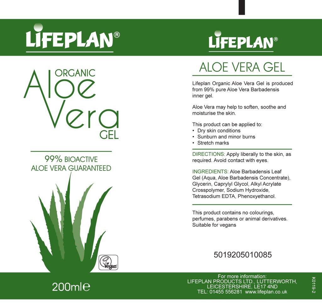 Organic Aloe Vera Gel 200ml 1