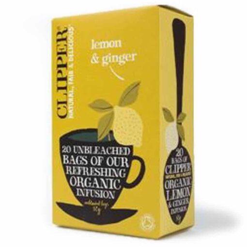 Organic Lemon & Ginger Infusion 20 bags