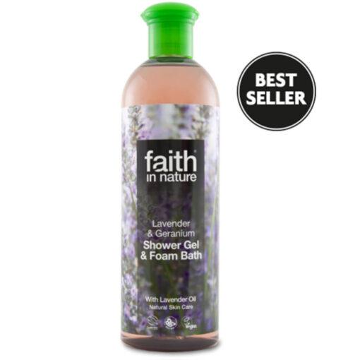 Lavender & Geranium Foam Bath/Shower Gel 400ml