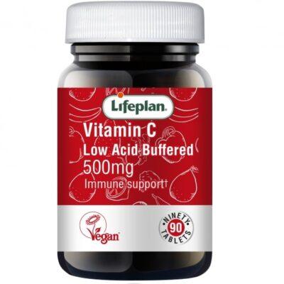 vitamin c low acid buffered 500mg