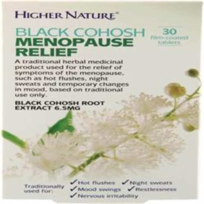 Traditional Herbals Black Cohosh Menopause Relief 30 Tablets