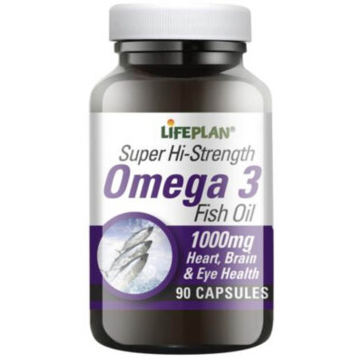 Lifeplan Super Hi- Strength Omega 3 Fish Oil capsules