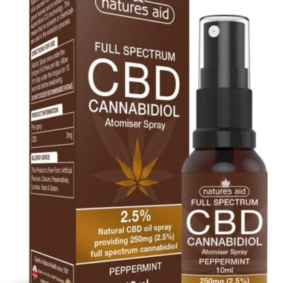 Natures Aid Full Spectrum CBD Oil Spray 2.5%