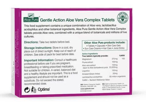 Gentle Action Aloe Vera Complex 60 Tablets