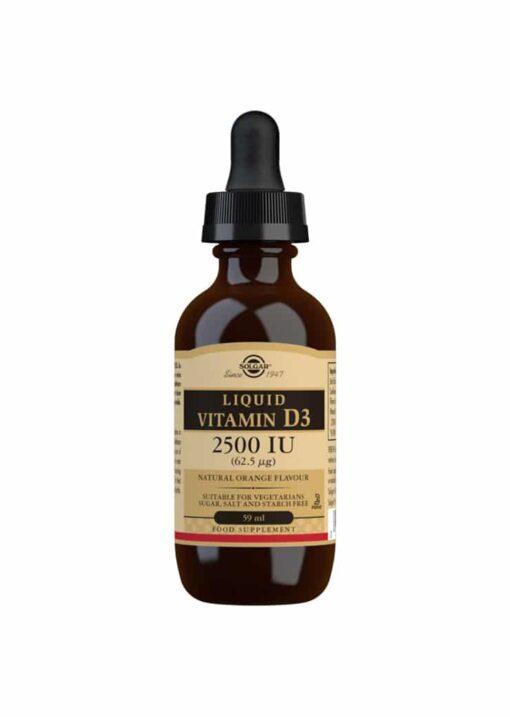 Solgar Vitamin D3 Liquid 2500 IU