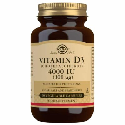 Solgar Vitamin D3 (Cholecalciferol) 4000 IU