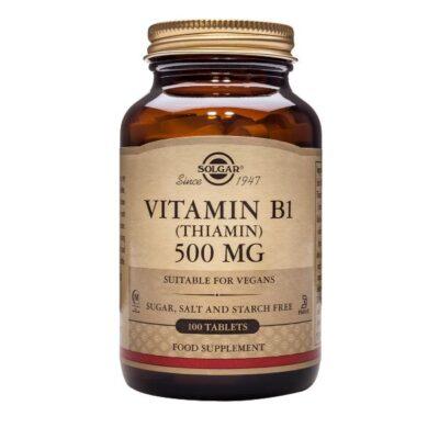 Solgar Vitamin B1 (Thiamin) 500 mg